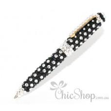 Black & Silver Bling Pen