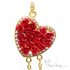 Heart Shaped With Red Roses USB Flash Drive / Stick 2