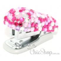 Cute Pink Bling Mini Stapler