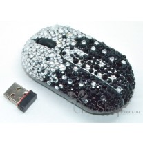 Wireless Crystal Bling Computer Mini Mouse
