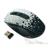 Wireless Bling Computer Mouse with 2 Extra Buttons