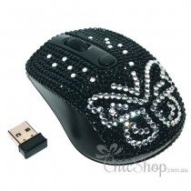 Wireless Bling Butterfly Computer Mouse