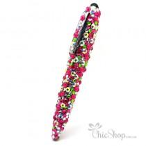 Crystal Diamonate Glitter Multicoloured Bling Pen