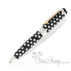 Black & Silver Bling Pen