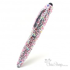 Crystal Diamonate Glitter Pink Bling Sparkle Pen