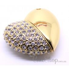 Heart-Shaped Jewelry Designer USB Flash Drive 4GB