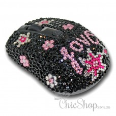 Crystal Diamonate Glitter Bling Wireless Computer Mouse