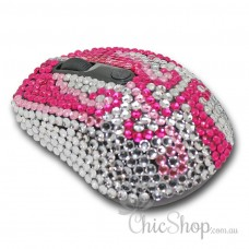 Crystal Diamonate Glitter Pink & Bling Wireless Computer Mouse