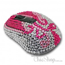 Crystal Diamonate Glitter Wireless Computer Mouse