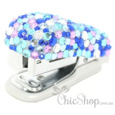 Cool Blue Bling Mini Stapler