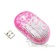Wireless Crystal Pink Computer Mini Mouse