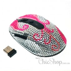 Pink Designer Wireless Computer Mouse 2 Extra Buttons