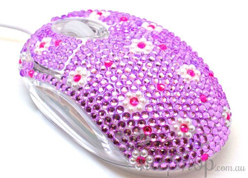 Crystal USB Optical Cute Computer Mouse 1