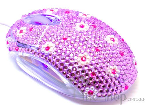 Crystal USB Optical Cute Computer Mouse