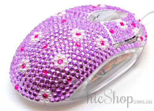 Crystal USB Optical Cute Computer Mouse 3