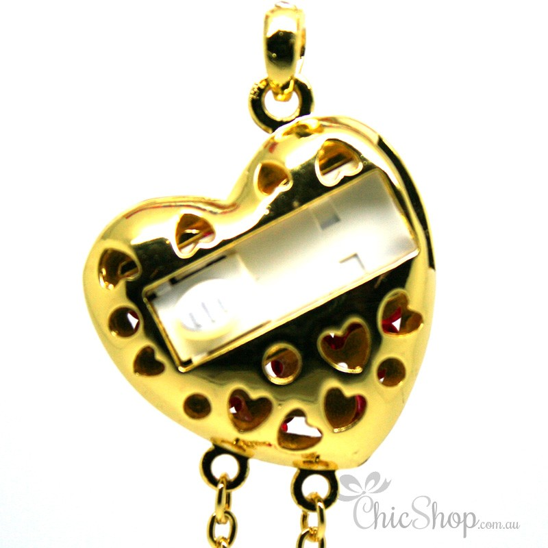 Heart Shaped With Red Roses USB Flash Drive / Stick 3