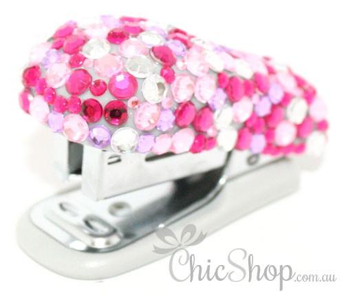 Pink Bling Cute Mini Stapler